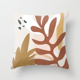 Abstract Plant Life II Throw Pillow