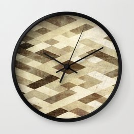 Abstract Pattern in Brown Wall Clock