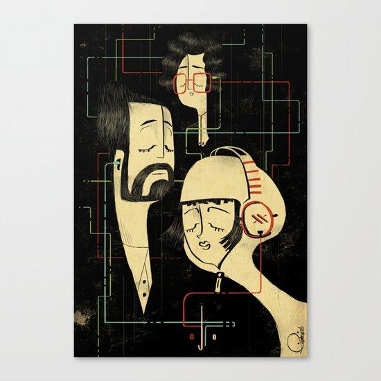 乐 Music v.2 / Vintage / Musicians Canvas Print