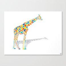 Technicolor Giraffe Canvas Print