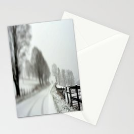 cold fence Stationery Cards