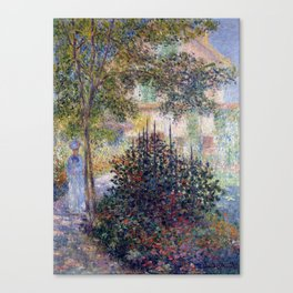 Claude Monet Camille in the Garden at Argenteuil Canvas Print