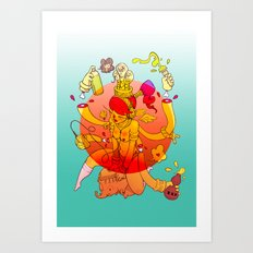 Naga Boo Art Print