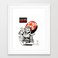 tintin Framed Art Prints featuring I'm the prophet / Tintin and Snowy by remedact