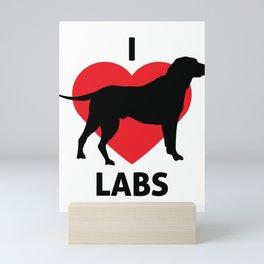 Animals I Love Labs Labrador Retriever Mini Art Print