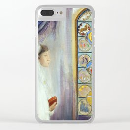 """Odilon Redon """"Portrait of Simone Fayet in Holy Communion"""" Clear iPhone Case"""