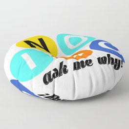 Tell the world to say NO to the IDC! Floor Pillow