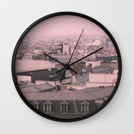 zinc rooftops of Paris Wall Clock