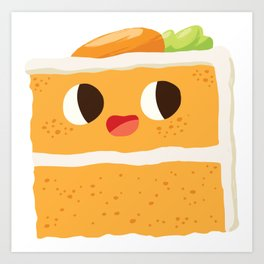 Baby Cakes - Carrot Cake Art Print