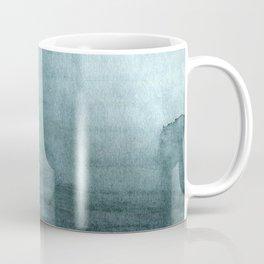 Elegant deep teal green watercolor texture Coffee Mug