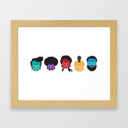 decades of hair Framed Art Print