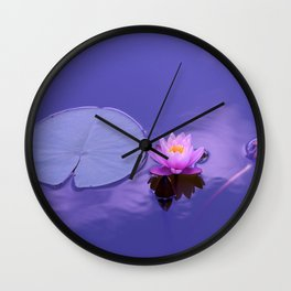 Lagoon Flower Wall Clock