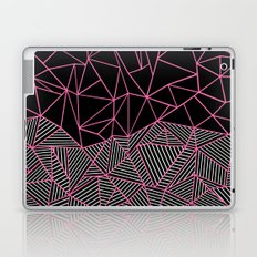 Ab Half an Half Black and Pink Laptop & iPad Skin