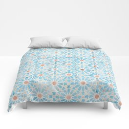 Hara Tiles Light Blue Comforters