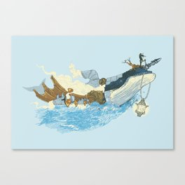 Mythical Rhapsody: King of the Ocean Canvas Print