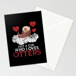 Otter Love Of Animals Stationery Cards