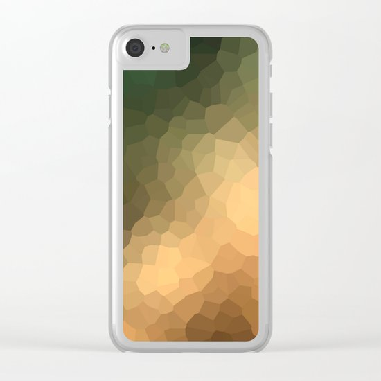 "Abstract pattern ""Sunny day "". Clear iPhone Case"