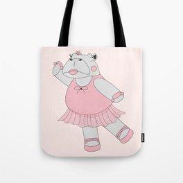 illusima Ballerina Hippo Tote Bag