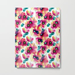 happy floral Metal Print