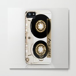Classic retro transparent cassette tape iPhone 4 4s 5 5c, ipod, ipad, tshirt, mugs and pillow case Metal Print