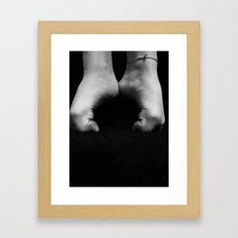 Dance feet Framed Art Print