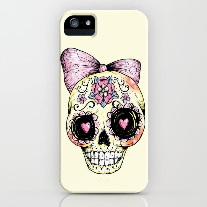 Sugar Skull (Yellow) iPhone Case