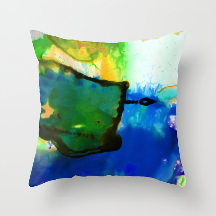Abstract Bliss 4I by Kathy Morton Stanion Throw Pillow