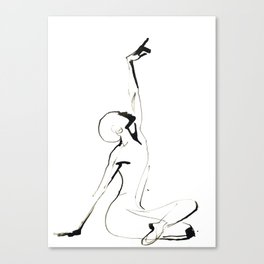 India Ink Dance Drawing Canvas Print