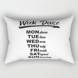 Week Daze - Funny Weekly Calendar Rectangular Pillow