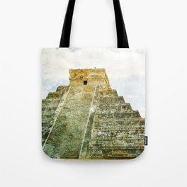 Chichen Itza pyramid Tote Bag