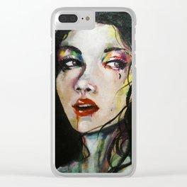 Lalo (Girl Portrait) Clear iPhone Case
