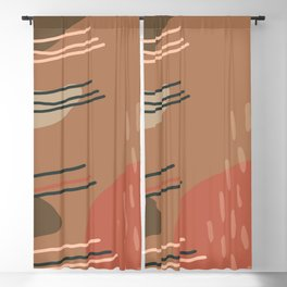 Abstract Desert Southwest Series - Desert Shapes Blackout Curtain
