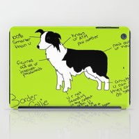 border collie iPad Cases featuring Border Collie by Lindsay Beth