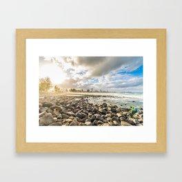 Burleigh Beach Gold Coast Framed Art Print