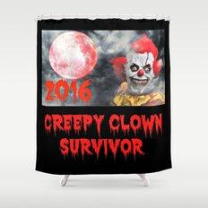 Creepy Clown Survivor 2016 Shower Curtain