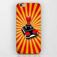 gaming iPhone & iPod Skins featuring Retro Gaming by MaNia Creations