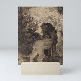 Saint Jerome Reading in an Italian Landscape Mini Art Print
