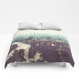 Los Angeles, beach,ocean, surf, downtown, Cali, SoCal, west coast Comforters