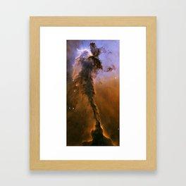 Eagle Nebula Spire Framed Art Print