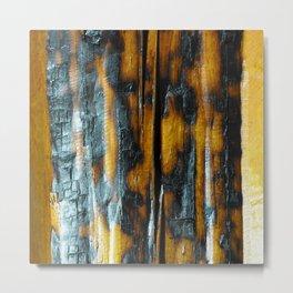 Wyoming Yellowstone Wildfire Log  Metal Print