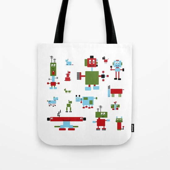 Robots-RGB Tote Bag