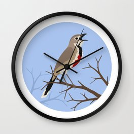 Rosy-patched Bush-shrike Wall Clock