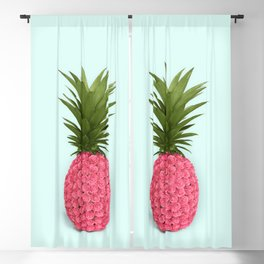 PINEAPPLE ROSES Blackout Curtain