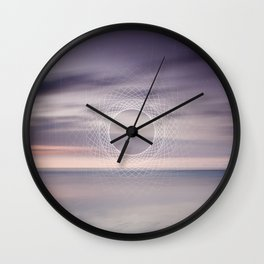 Where the sky touches the sea Wall Clock