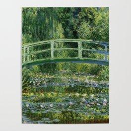 Water Lilies and Japanese Footbridge, Claude Monet Poster