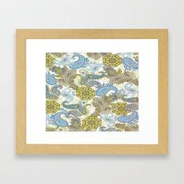 Golden Paisley Framed Art Print