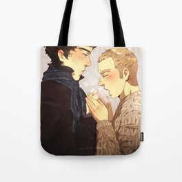 Warm up, Holmes Tote Bag