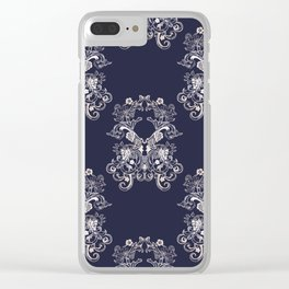 Baroque style floral retro pattern Clear iPhone Case
