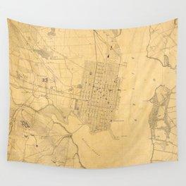 Vintage Map of Alexandria VA (1864) Wall Tapestry