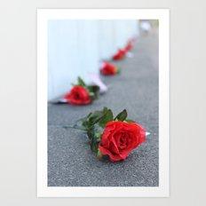 Flight 93 Memorial/Trail of Roses Art Print